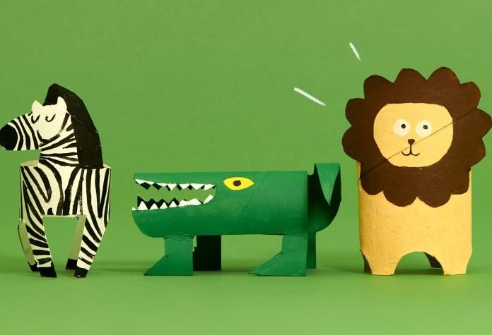 ۱۱ حیوان بامزه که می توانید با لوله دستمال کاغذی بسازید